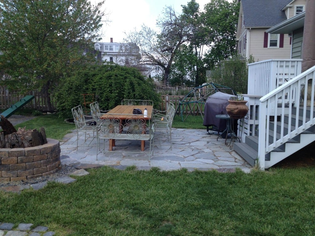 stone patio designed and installed by 4-outdoor in catonsville maryland