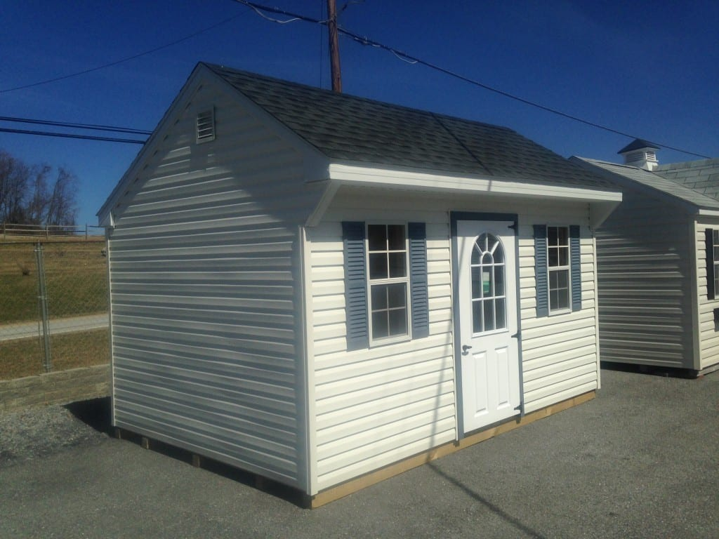Sold 2755 10x14 vinyl quaker storage shed for sale 3500 for Cheap outdoor sheds for sale
